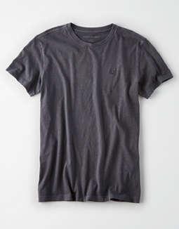 AE Logo Crew Neck Slub t-shirt