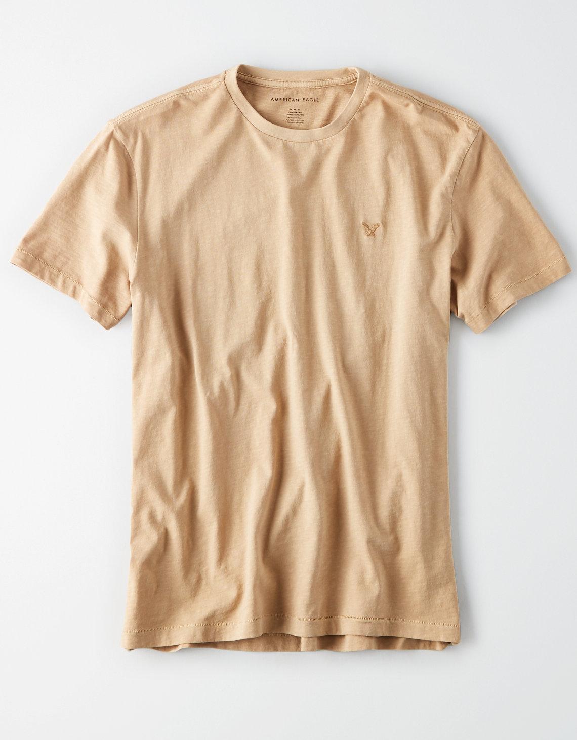 Ae Logo Crew Neck Slub T Shirt by American Eagle Outfitters