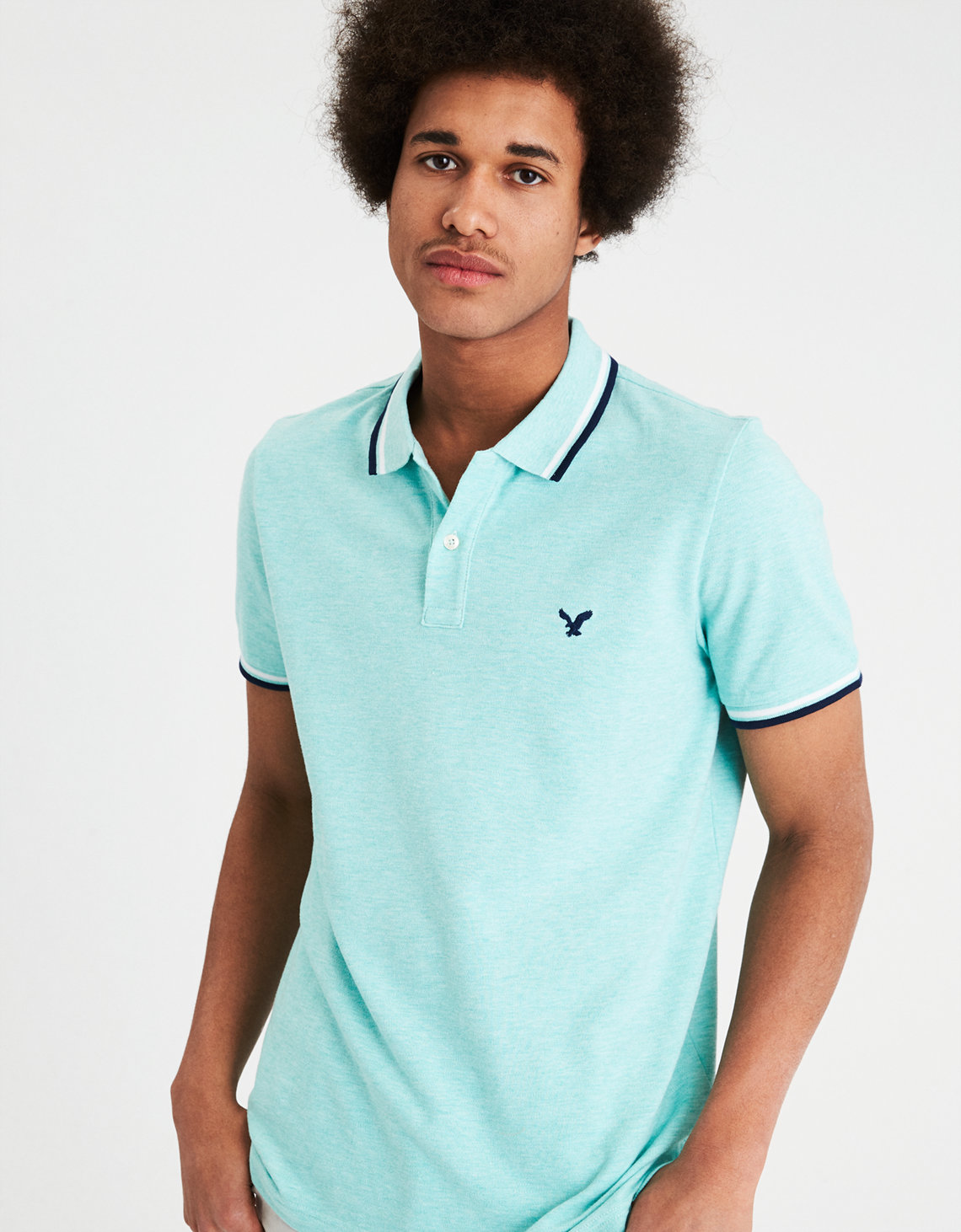 AE Pique Flex Polo. Placeholder image. Product Image