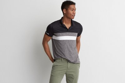 AE Active Colorblock Polo
