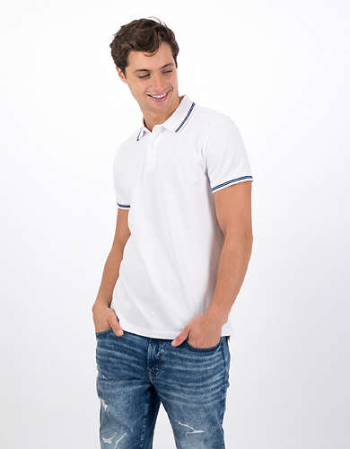 AE Slim Fit Tipped Pique Polo