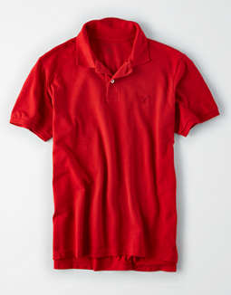 AE Logo Brushed Pique Polo Shirt