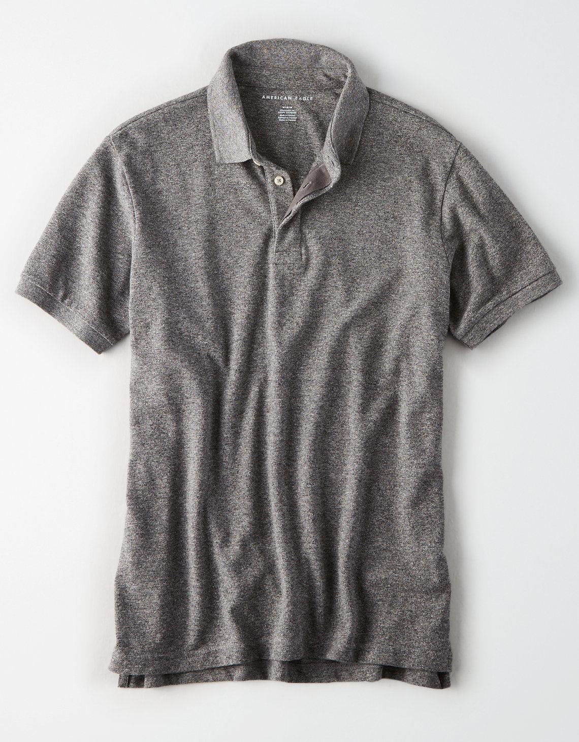 AE Heather Brushed Pique Polo Shirt