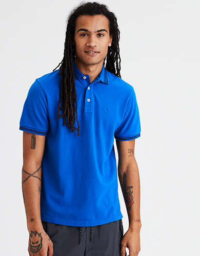 AE Super Soft Icon Tipped Pique Polo Shirt