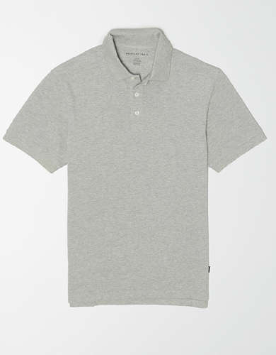 AE Heather Pique Polo Shirt