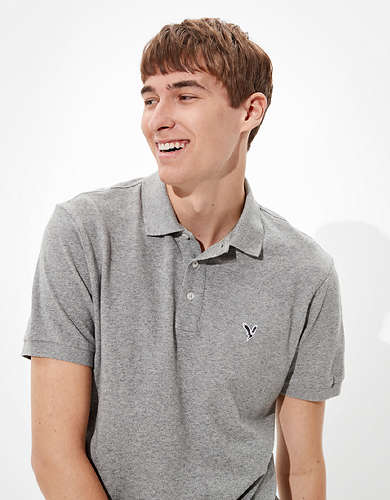 AE Super Soft Icon Heathered Pique Polo Shirt