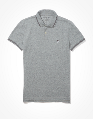 Приталенная рубашка поло из ткани пике AE