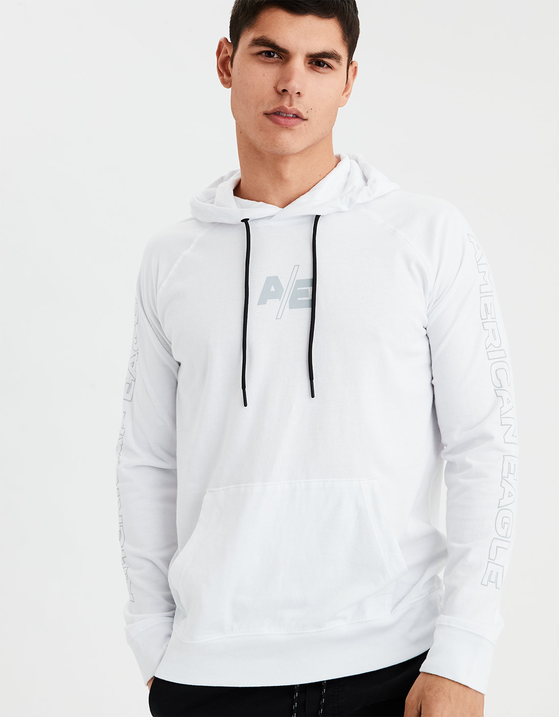 4866d968d AE Graphic Hoodie Tee, White | American Eagle Outfitters