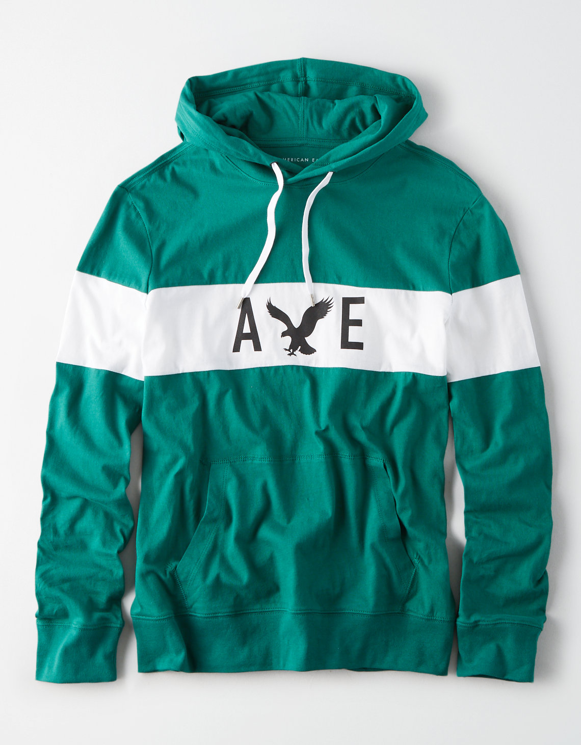 AE Striped Graphic Hoodie Tee