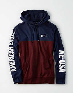 AE Color Block Graphic Hoodie