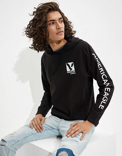 AE Super Soft Graphic Hoodie Tee
