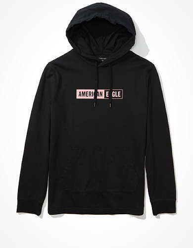 AE Super Soft Box Logo Graphic Hoodie Tee