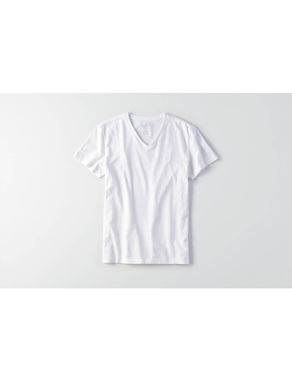 AEO Flex Solid V-Neck T-Shirt