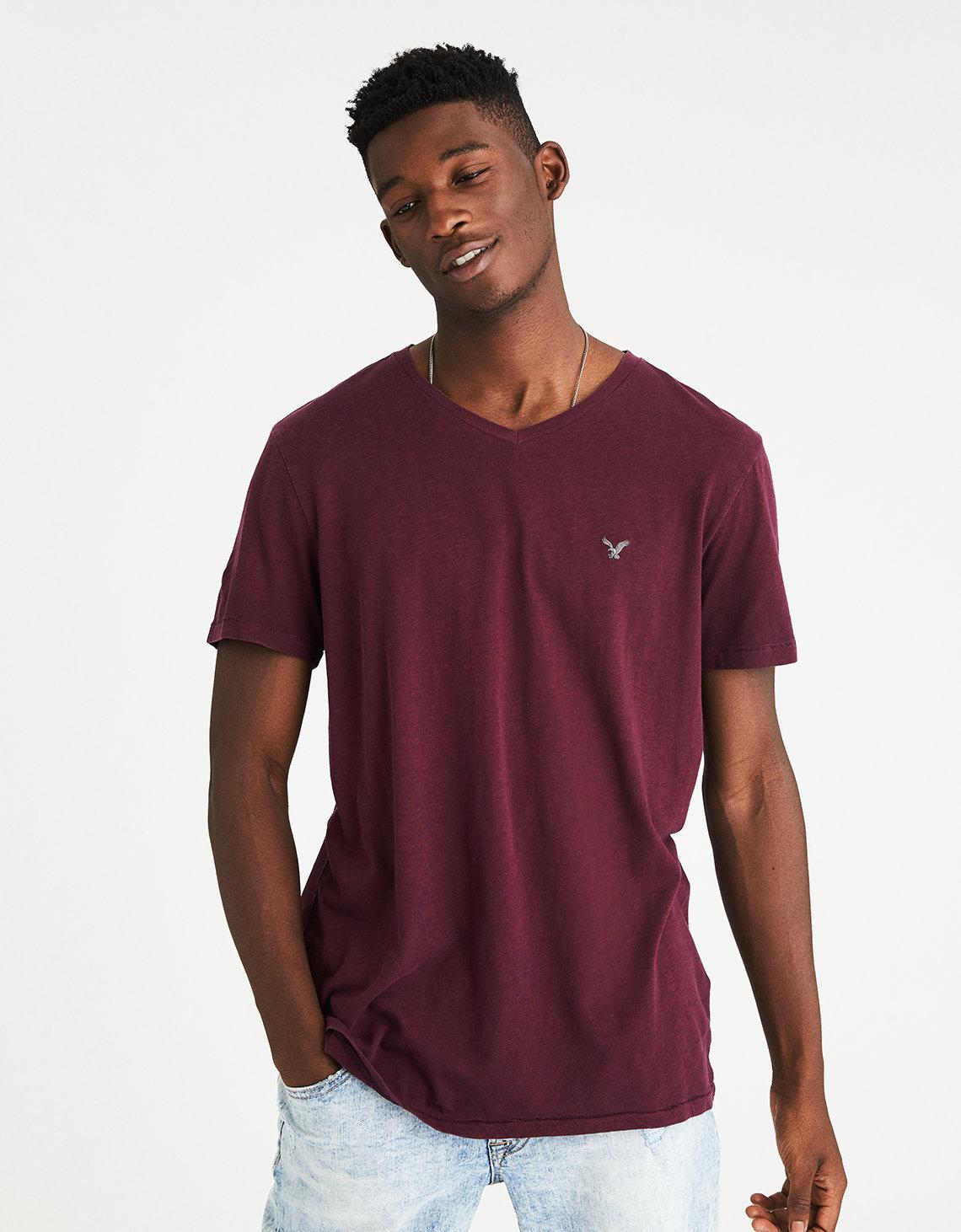 AE Slub V-Neck T-Shirt