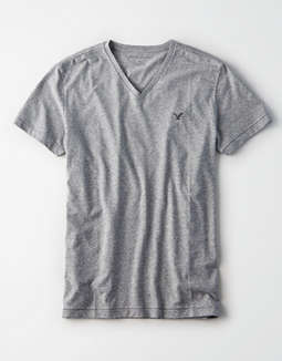 9f15b48c placeholder image AE Logo Slub V-Neck T-Shirt ...