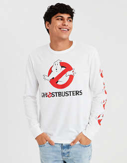 Ae Ghostbusters Long Sleeve Graphic Tee by American Eagle Outfitters