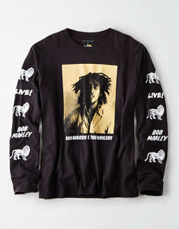 AE Bob Marley Long Sleeve Graphic T-Shirt