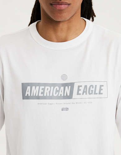 AE Super Soft Long Sleeve Reflective Graphic T-Shirt