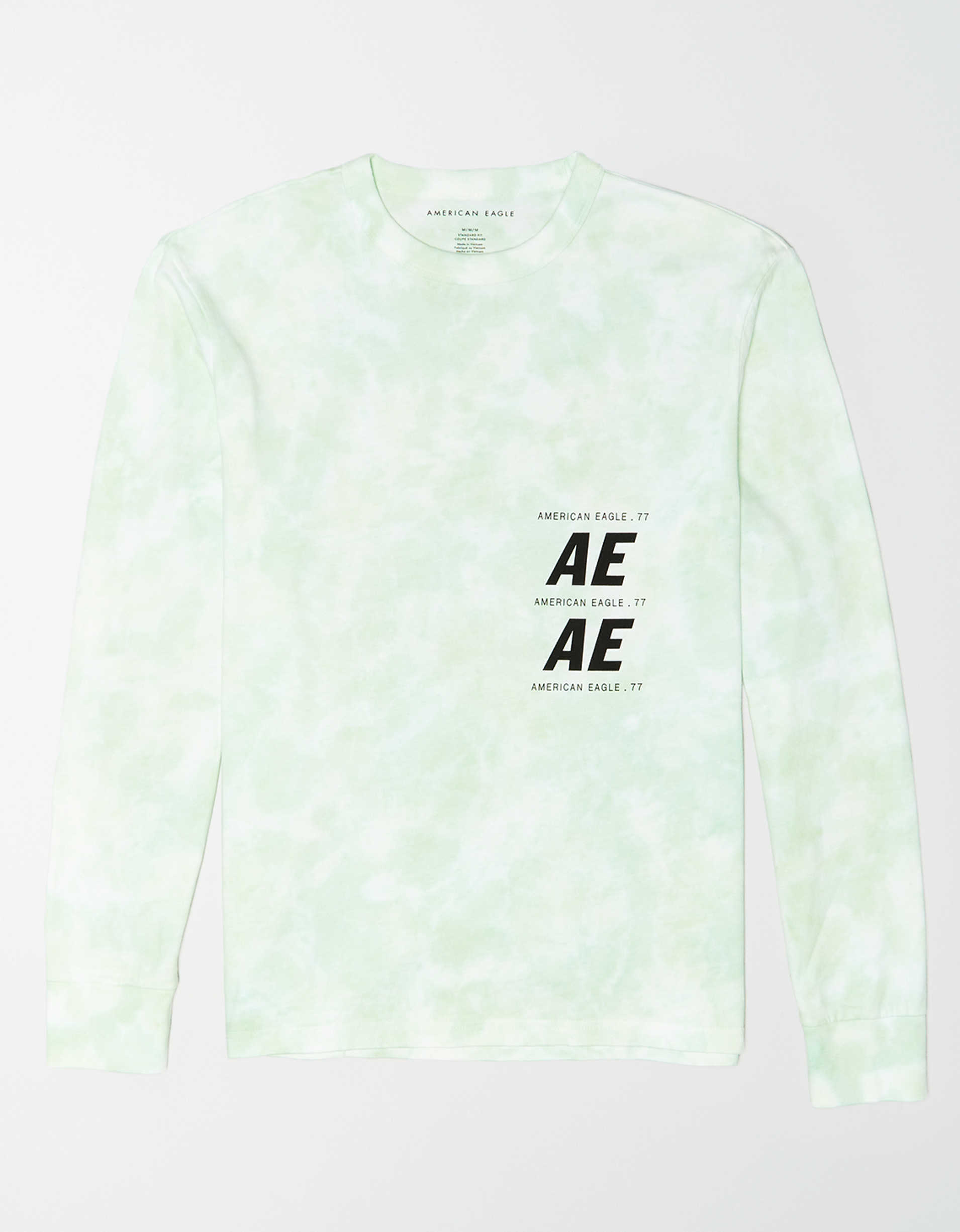 AE Long Sleeve Tie-Dye Graphic T-Shirt