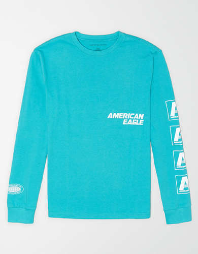 AE Long Sleeve Reflective Graphic T-Shirt
