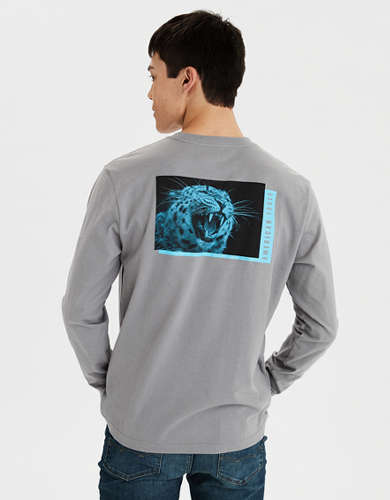 AE Long Sleeve Graphic Pocket T-Shirt
