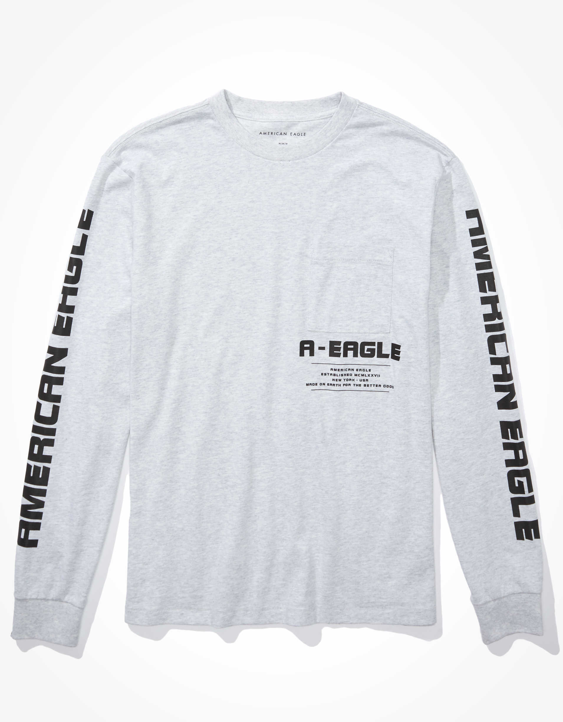 AE Super Soft Long-Sleeve Graphic T-Shirt
