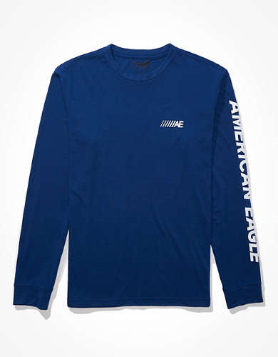 AE 24/7 Active Long-Sleeve Graphic T-Shirt