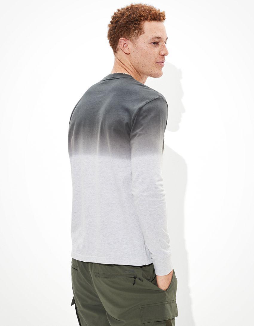 AE Super Soft Dip-Dye Long-Sleeve Graphic T-Shirt