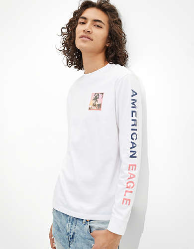 AE Long-Sleeve Photo Graphic T-Shirt