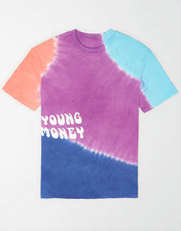 AE X Young Money Tie-Dye Graphic T-Shirt