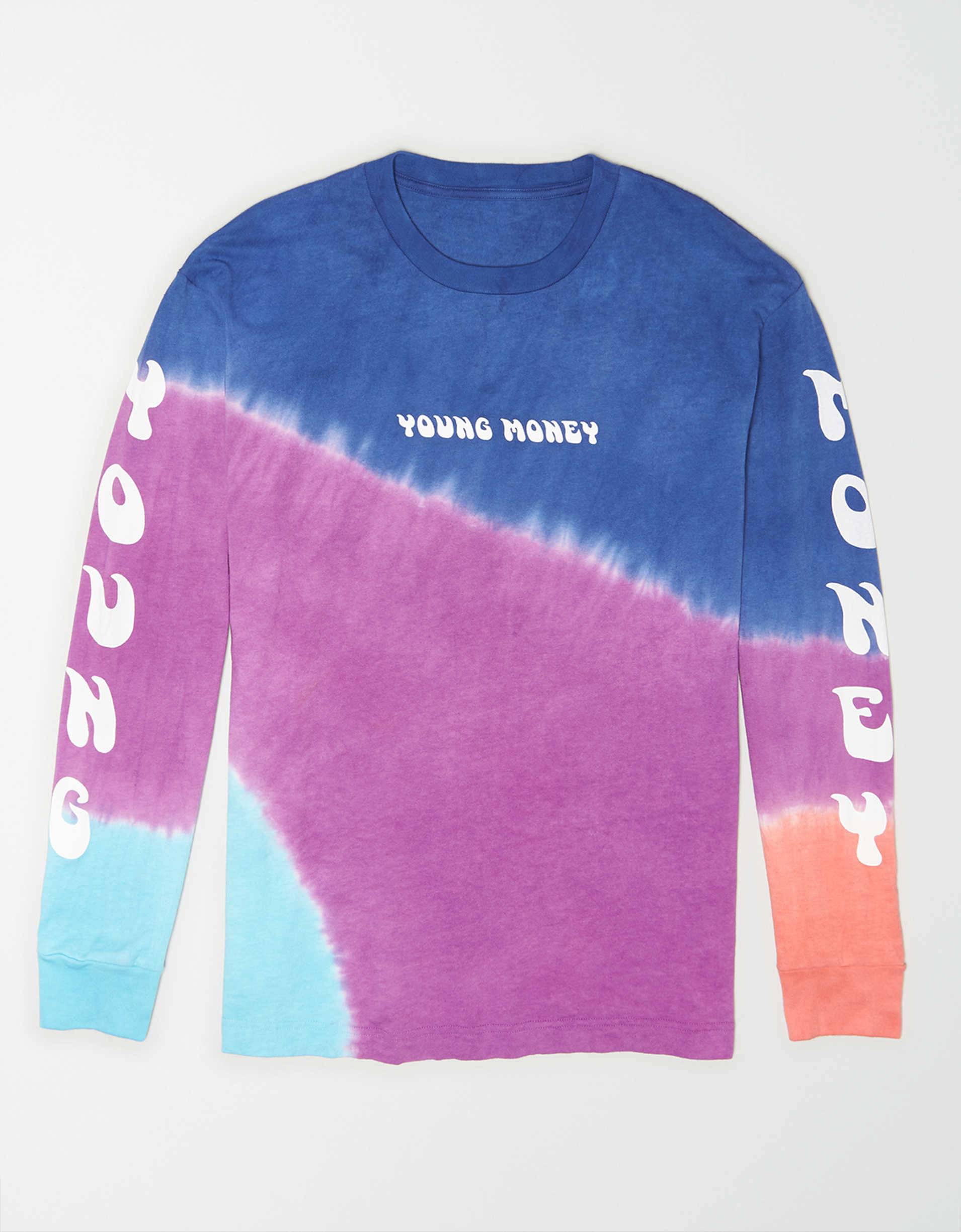 AE X Young Money Long Sleeve Tie-Dye T-Shirt