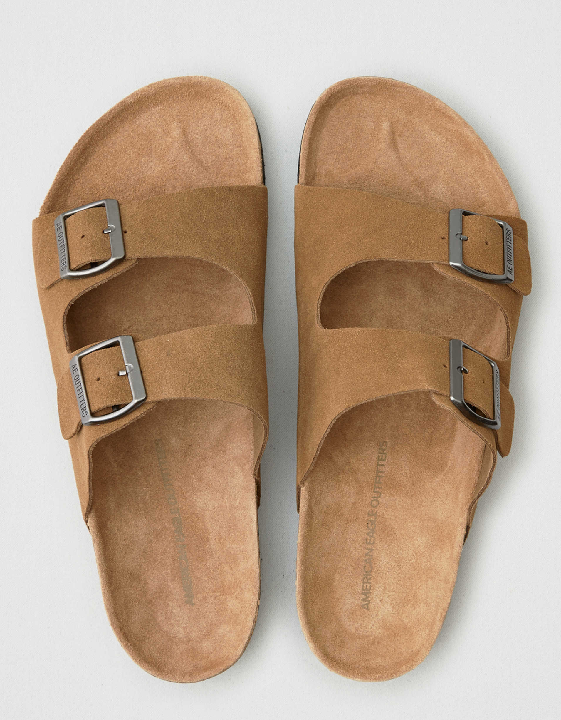 AEO Suede Double Buckle Sandal