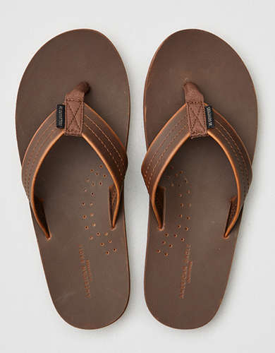 b0a22cee81d AEO Leather Flip Flop