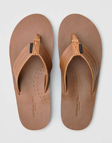 AEO Men's Leather Flip Flop