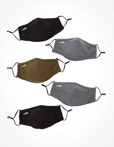 AEO Reusable Constructed Training Masks 5-Pack