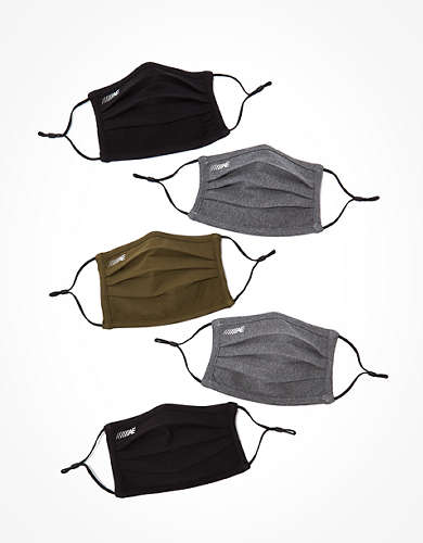 AEO Reusable Pleated Training Masks 5-Pack