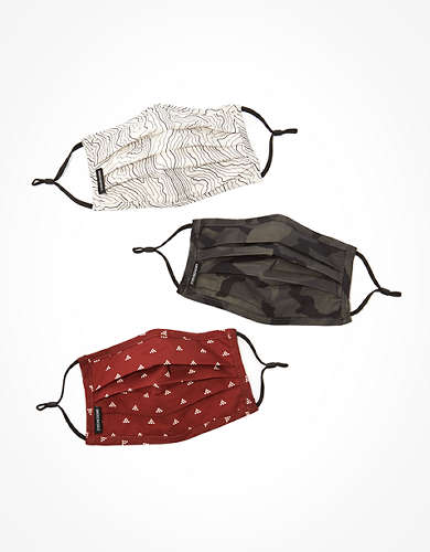 AEO Reusable Pleated Face Masks 3-Pack