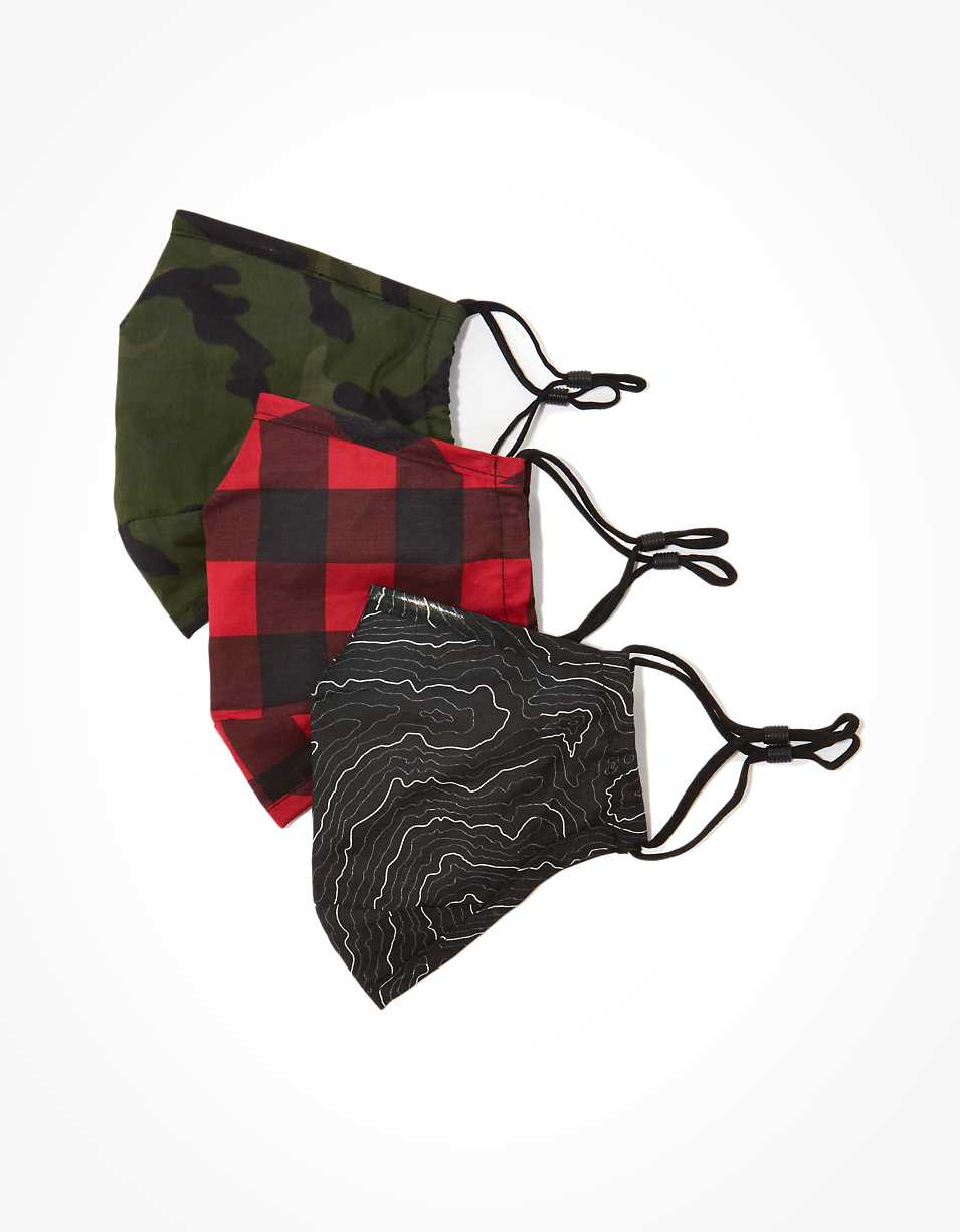 AEO Printed Constructed Masks 3-Pack