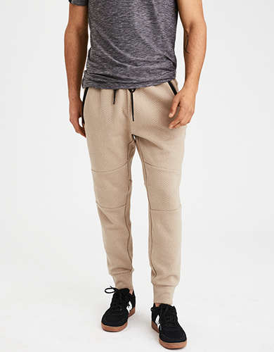 AE Mixed Fabric Jogger