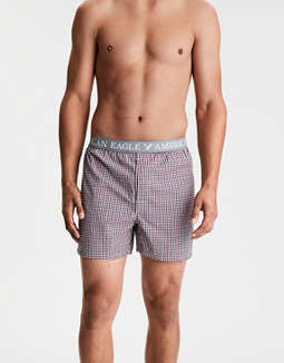 AEO Plaid Slim Stretch Boxer