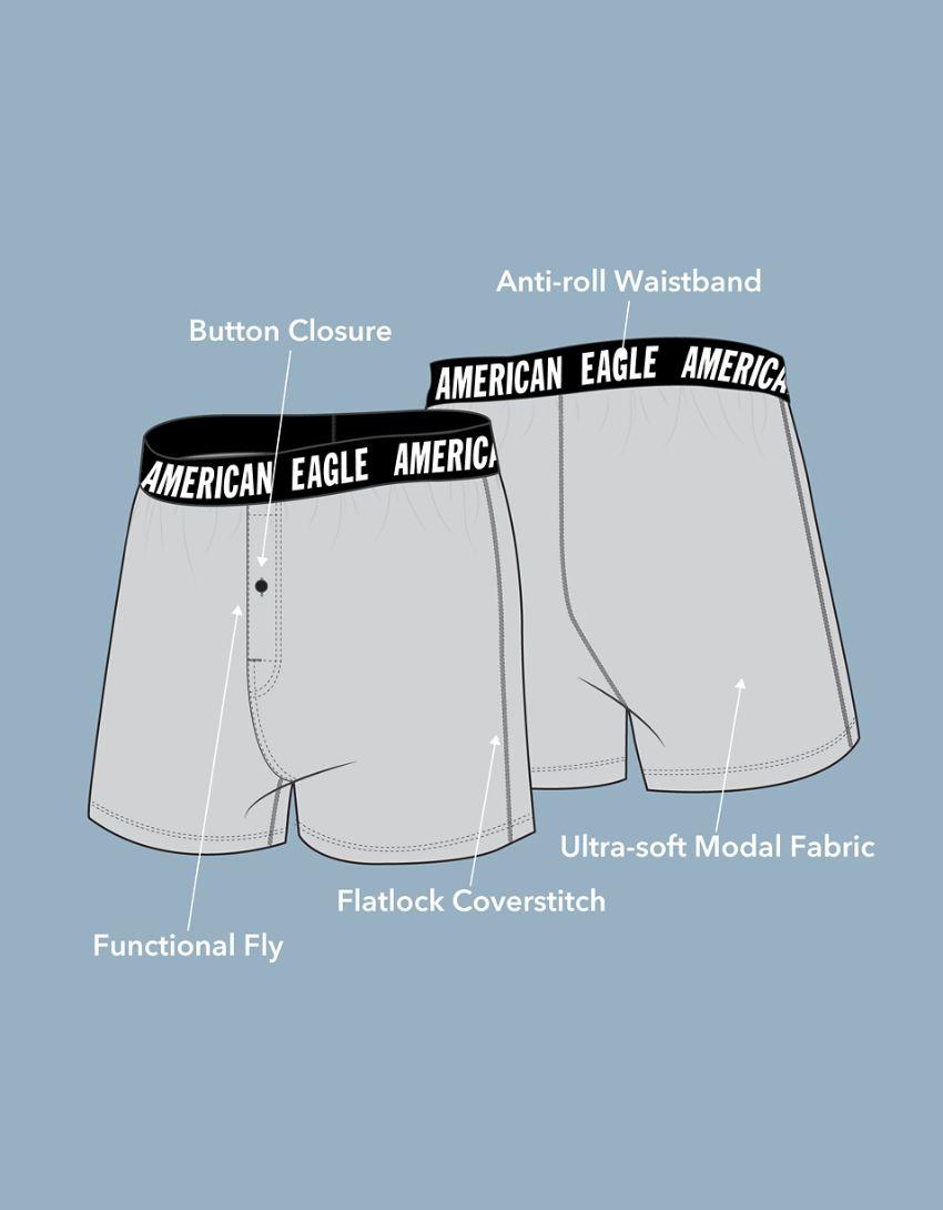 AEO Fun Palms Ultra Soft Boxer Short