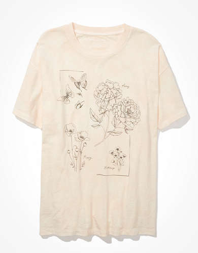 AE Oversized Flower Graphic T-Shirt