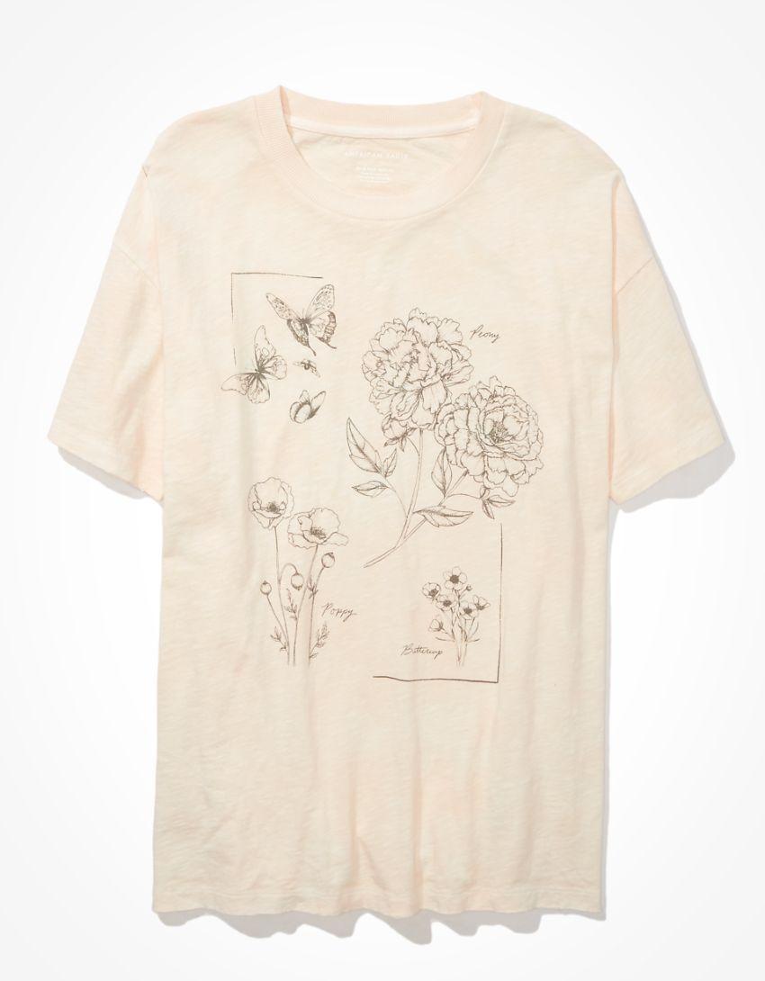AE Oversized Flower Graphic T-Shirt