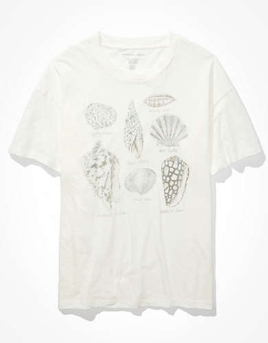 AE For Surfrider Oversized Seashell Graphic T-Shirt