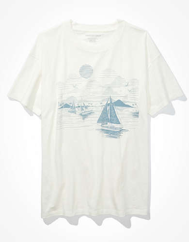 AE Oversized Sailboat Graphic T-Shirt