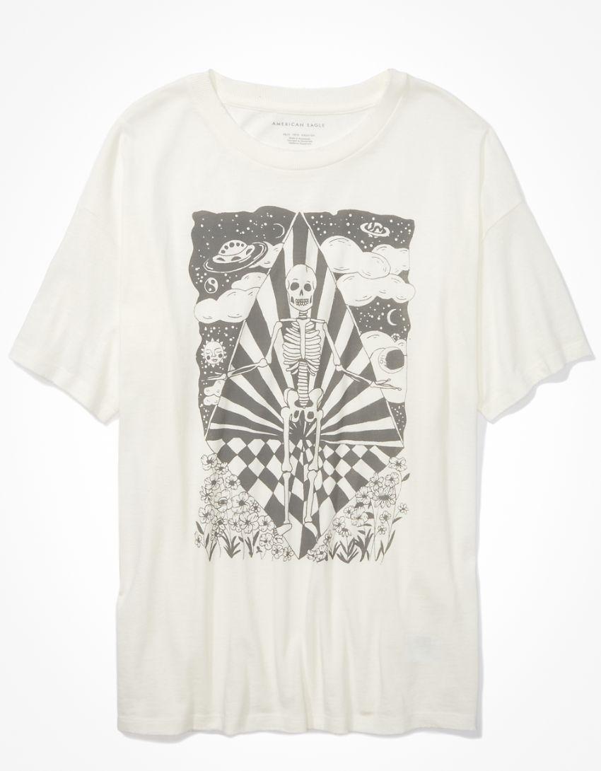 AE Oversized Skeleton Graphic T-Shirt