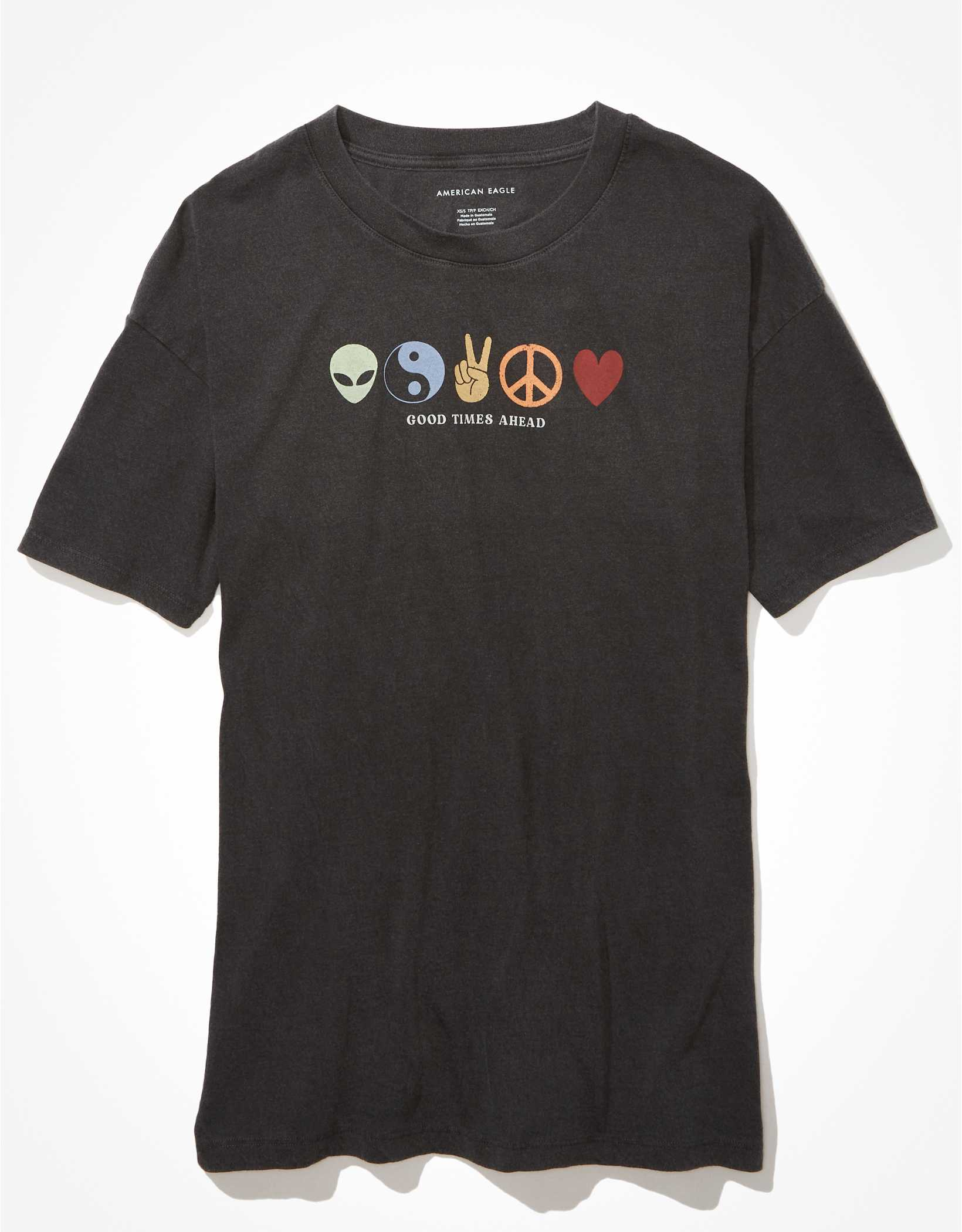 AE Oversized Good Vibes Graphic T-Shirt