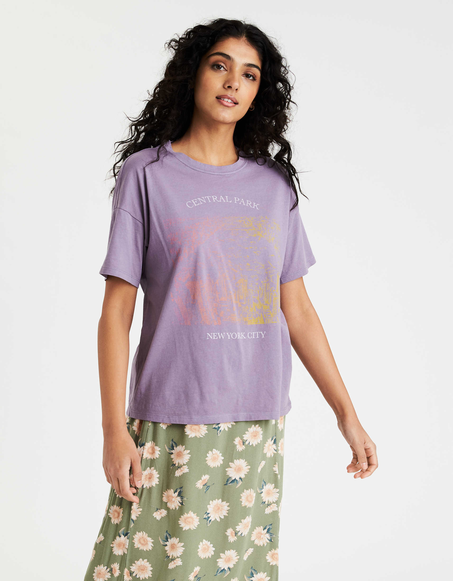 AE Oversized NYC Graphic T-Shirt
