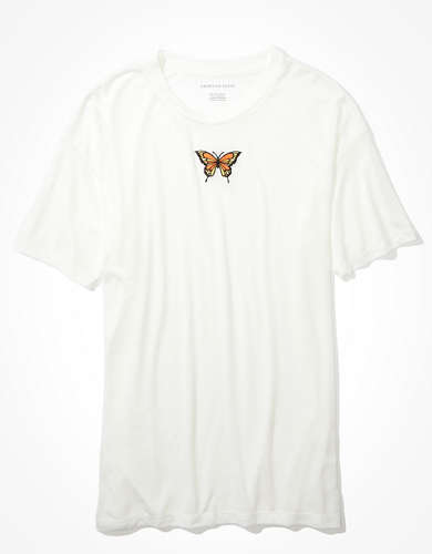 AE Embroidered Butterfly Graphic T-Shirt