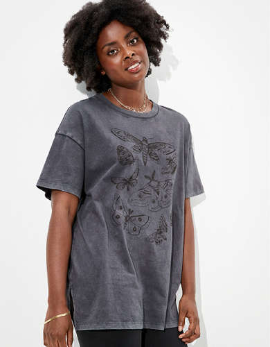 AEO Oversized Butterfly Graphic T-Shirt